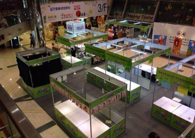 Exhibition booth setup preview